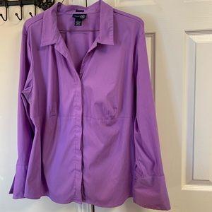Venezia Jeans Purple Button Down Collared Shirt